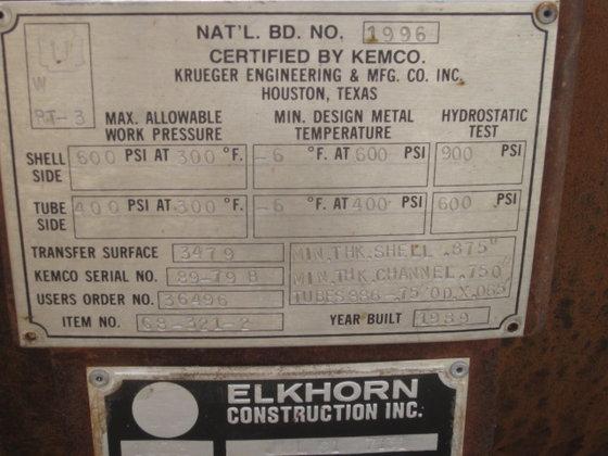 1989 KRUEGER ENGINEERING PREVIOUS SERVICE-LUBE