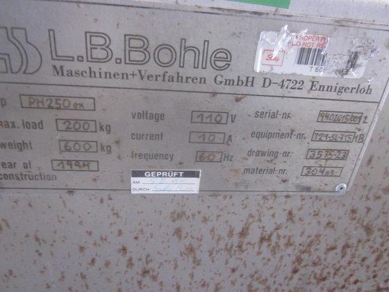 1994 LB BOHLE LOAD TANK