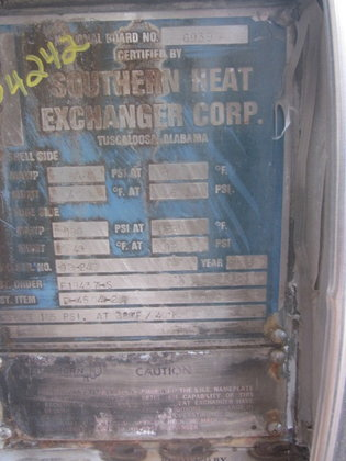1993 SOUTHERN HEAT EXCHANGER MOTHER