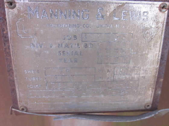 MANNING & LEWIS MEOH CONDENSER