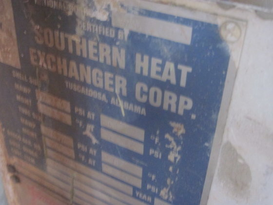 1994 SOUTHERN HEAT EXCHANGER VAPORIZER