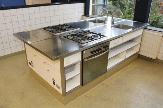 Gebraucht Edelstahl Kochzeile Küche Küchenblock Küchenzeile m ...
