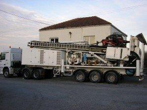 Soilmec G 75 on trailer