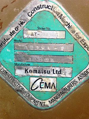 1993 KOMATSU D275A-2 in California,