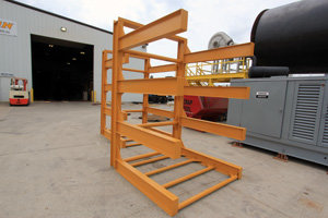 Free-Standing Sheet Metal Rack in