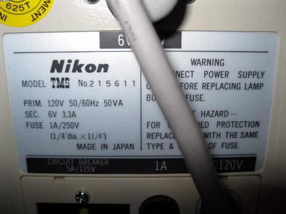NIKON TMS Microscope in Williamston, SC, USA