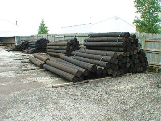 Misc Creosote Round Wood Posts