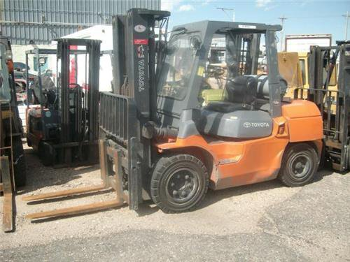 TOYOTA 8000 LB FORKLIFT STACKER LOADER PICKER LP POWER SIDE SHIFT 3 STAGE  in Sterling, CO, USA