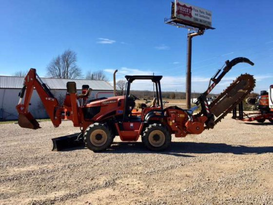 2014 ditch witch rt120 trencher/backhoe w/ sliding rear attachment in plant  city, fl, usa