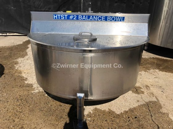 Feldmeier 150 Gallon Stainless Steel PMO Legal Balance Tank in
