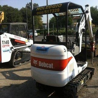 Bobcat E14 and E16 mini excavators in Reggio Emilia, Italy