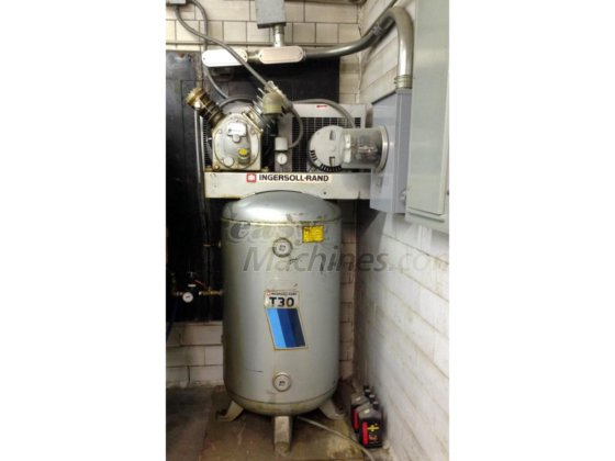 Ingersoll Rand T30 2 Stage Air Compressor Model 242 5n Vertical Tank 80 Gallon 5hp 3783 In New York Ny Usa