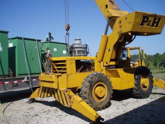 Power Wheels Crane : Ton p h harnisfeger series hydraulic rough