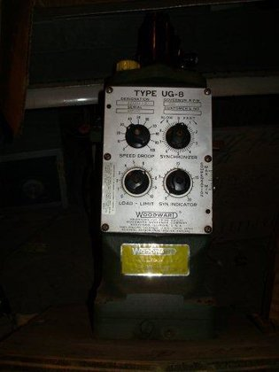 Woodward Governor Type UG-8; Dial