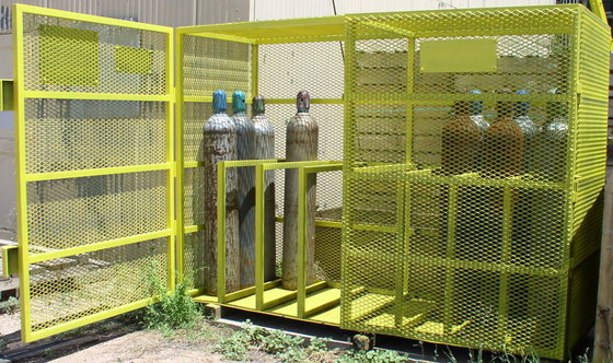 Gas Cylinder Storage Cabinet-Cage in