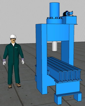 225 Ton Oilgear Hydraulic Straightening