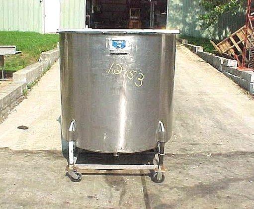 375 gallon stainless steel open