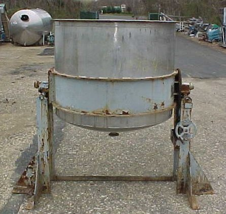 700 gallon.stainless steel.open top.tilting percolation