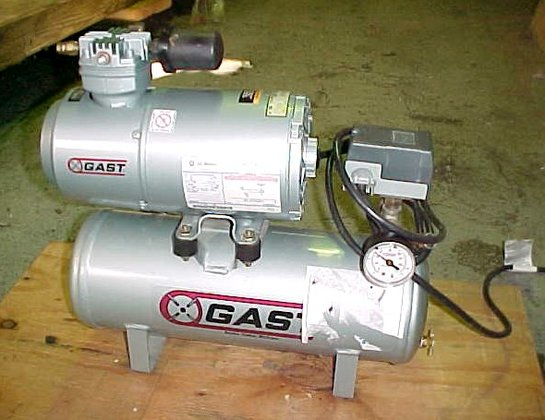 Gast Mfg Air Compressor Air
