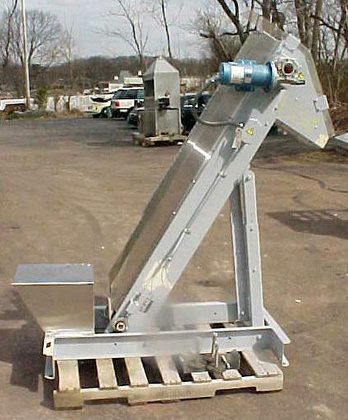 inclined cleated belt conveyor by