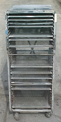 all stainless steel bakery rack