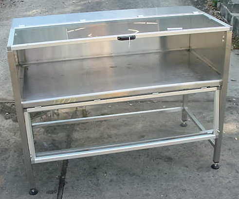 stainless steel jacketed.enclosed chill table.custom