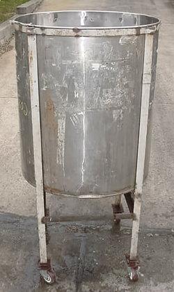 250 gallon stainless steel portable.open