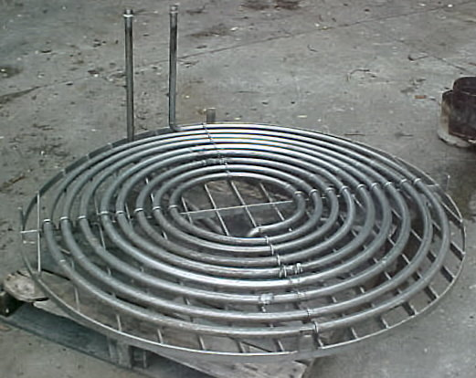 "60"" diameter flat heating/cooling coil"