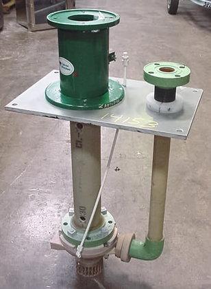 fybroc vertical fiberglass pump (unused).5500