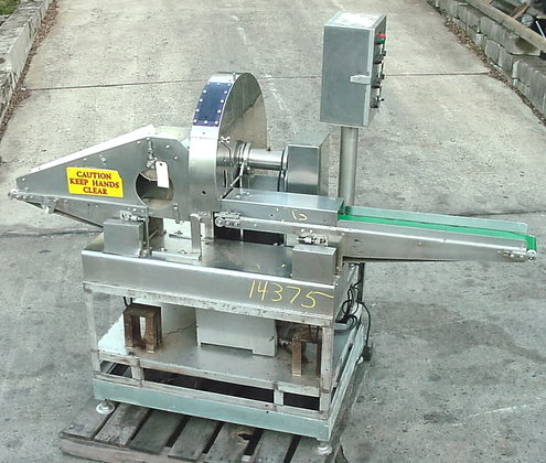 vertical conveyorized automatic slicer.all stainless
