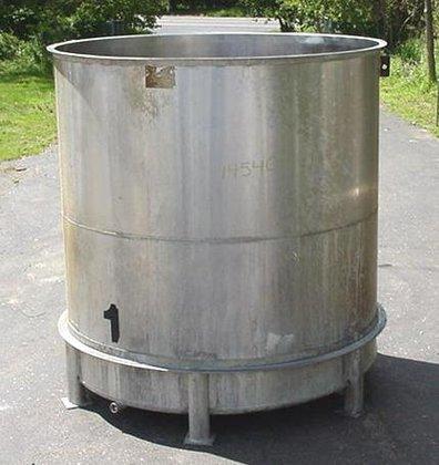 3000 gallon stainless steel open