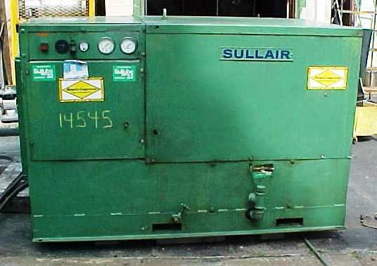 rotary air compressor by sullair.model
