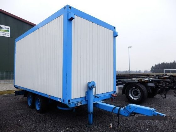 1996 Materialcontainer Anhänger Closed box