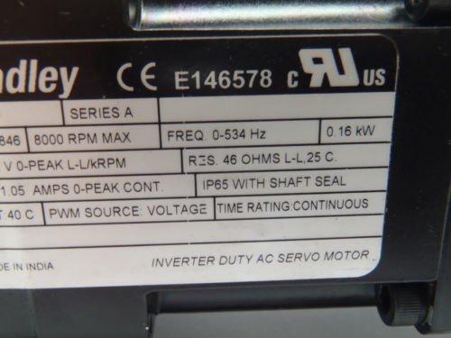 Allen-Bradley MPL-A1510V-VJ42AAK Servo Motor Ser A w/ NOOK QS60-47623  Actuator in Stevensville, MI, USA