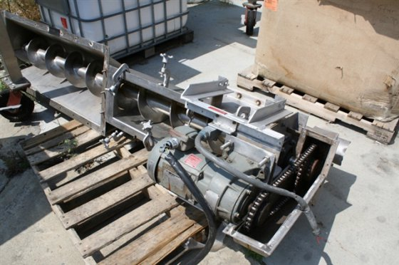 Conveyor, 7' screw, s.s., 2