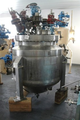 100 gallon Pfaudler Glass-lined Reactor