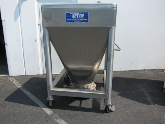 Tote Systems stainless steel bin