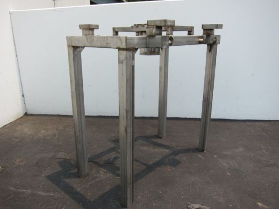 Used discharge station. Mild steel