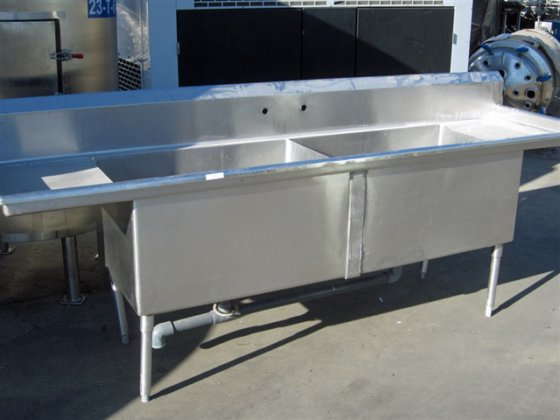 Stainless Steel Washing Table, 106""