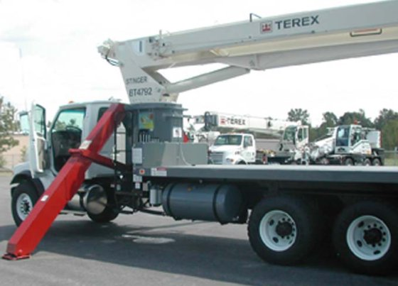 Terex BT4792 Boom Truck in Lockport, NY, USA