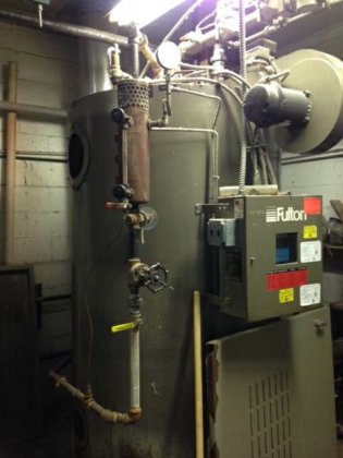 Fulton Steam Boiler 30 HP in Wisconsin, USA