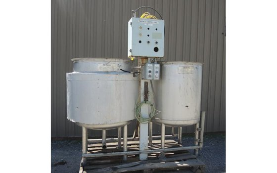 TANK-JACKETED, 150 USG, STAINLESS STEEL,