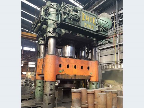 1960 2,000 ton Erie Press Systems Oil Hydraulic 4-Column in