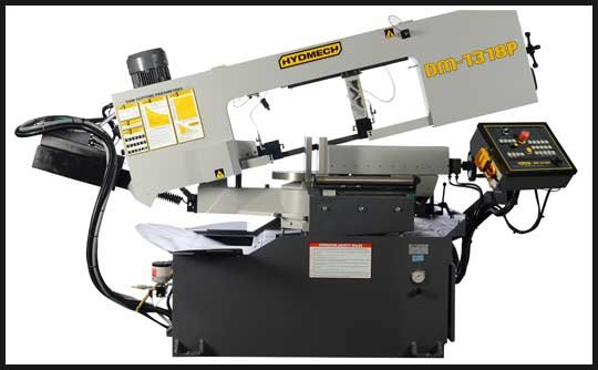 HYD-MECH DM-1318P Horizontal Bandsaw, Semi-Automatic,