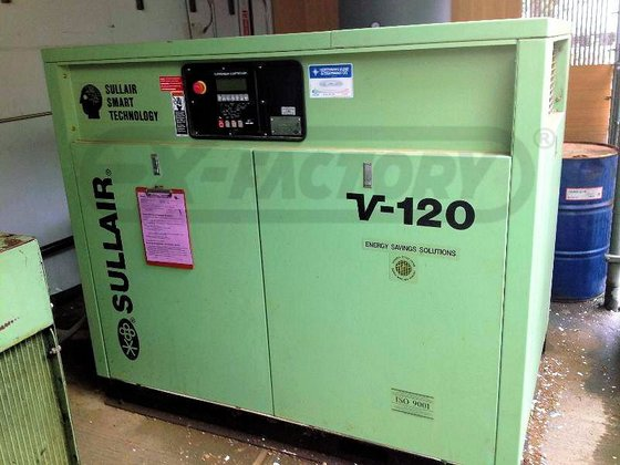 SULLAIR V120-40H/A AIR COMPRESSOR (ROTARY