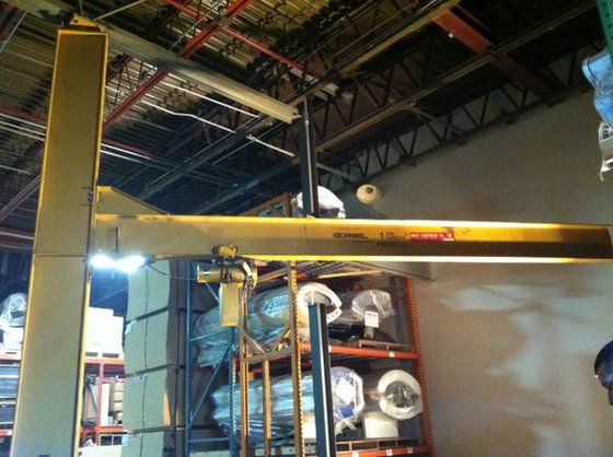 Jib Crane Manufacturers Usa : Used gorbel ton jib crane sn in united st