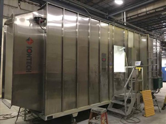 iontech pn 8000 powder application booth and recovery system in