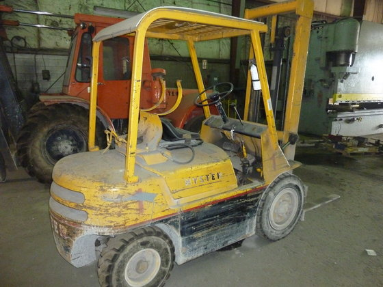 6,600 LBS., HYSTER, PROPANE FORKLIFT,