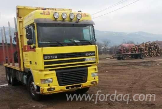 daf Short Log Truck Romania