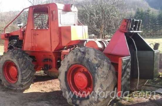Forest Tractor in Romania in
